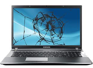 troca de tela quebrada notebook samsung