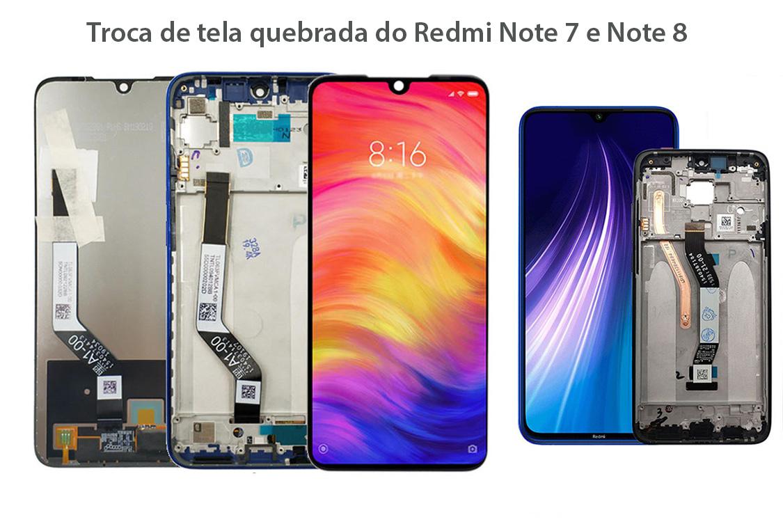Troca de tela quebrada do Redmi Note 7